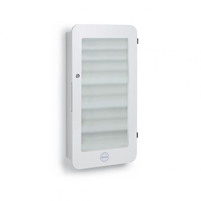 ZCOM-G-10 Zenit Compact vit med dörr i säkerhetsglas