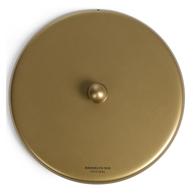 BL44 Lock knopp neutral guld halvblank. Tysk kvalitetslack
