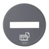 BL20 Lock papper grå matt