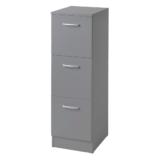 VR04-G BALDER grå lådskåp med 3 st lådor