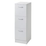 VR04-W BALDER vit lådskåp med 3 st lådor