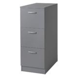 VR05-G TOR grå lådskåp med 3 st lådor